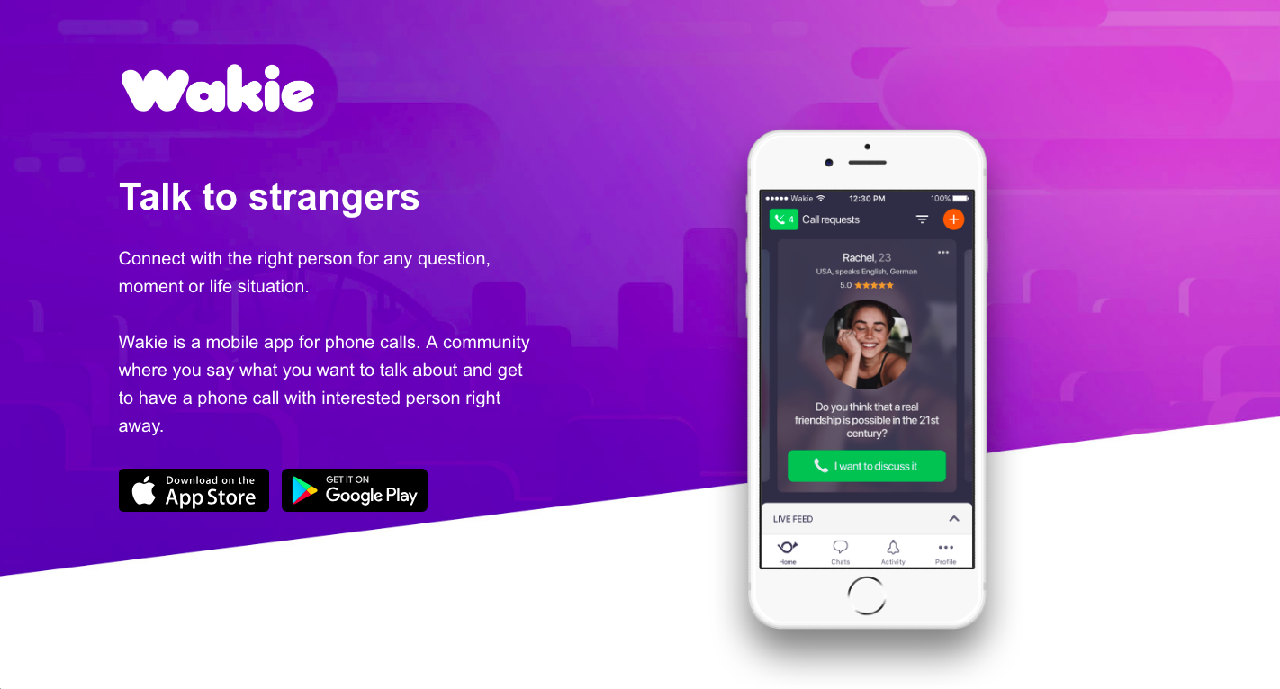 Wakie App – Talk To Strangers And Convert Them Into Friends